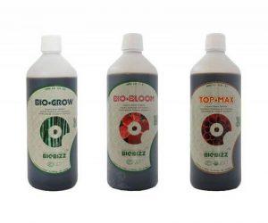 BioBizz Bio Grow–Bio Bloom–Top Max–Fertilisant bio 500ml de chaque de la marque BIOBIZZ image 0 produit