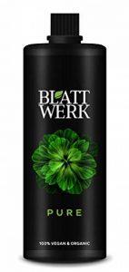 BLATTWERK Pure - 1.000ml : engrais 100 % biologiques et végétariens, engrais liquides à partir d'herbe, pour les plantes d'intérieur et de jardin, avec des acides aminés, des acides lactiques, des sucres et des minéraux. de la marque Biofabrik image 0 produit