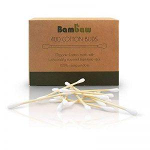 Coton-tige en bambou | Coton-tige bio | Coton-tige en bois | Emballage écologique | Recyclable et biodégradable | 400 unités | Bambaw de la marque Bambaw image 0 produit