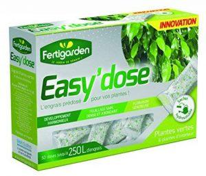 Engrais Easy'dose Plantes vertes et Plantes d'intérieur - BUIS - CONIFERES - Plantes vertes d'extérieur - 50 sachets monodoses hydrosolubles de la marque Fertigarden image 0 produit
