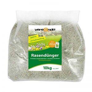 Engrais gazon à partir de - marque versando - 10 kg pour env. 300 m² de gazon - sans mousse ou mauvaises herbes, engrais NPK avec effet immédiat de la marque versando image 0 produit