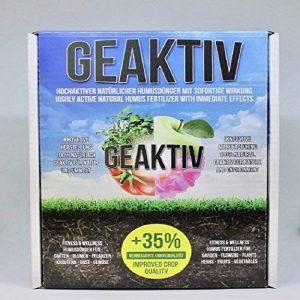 GeAktiv Engrais bio Humus, pour le jardin, fleurs, plantes, herbes, fruits, légumes, raisin, cannabis plantes. + 35% une meilleure qualité de récolte. 3L de la marque GeAktiv image 0 produit