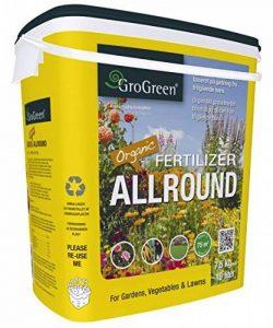 grogreen® organique Bio Engrais universel 4–32+ 1% MG + 9% CA, 7,5kg Seau de la marque GroGreen image 0 produit
