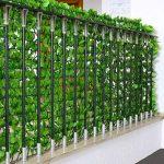 Haie artificielle/brise vue pr balcon, feuilles, 300x150cm de la marque Mendler image 3 produit