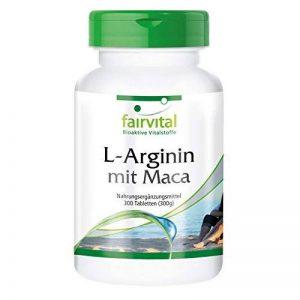 L-Arginine avec Maca - 300 comprimés - Combinaison puissante de Maca et L-Arginine avec du béta-glucane, de l'OPC et du Zinc de la marque fairvital image 0 produit