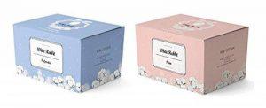 [Lapin Blanc] Premium Coton Pad (Uni type 200pcs + perforé Lot de type 200) authentique 100% bio Cotton-unbleached et non traité Cultivé gratuit de pesticides et engrais chimiques de la marque White Rabbit image 0 produit