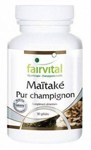 Maïtaké 500mg - Le Champignon pur - Grifola frondosa - riche en polysaccharides, lectines et précurseurs d'acides nucléiques - 90 gélules végétariennes de la marque fairvital image 0 produit