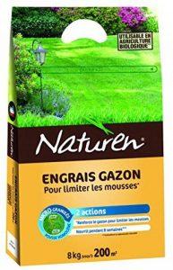 NATUREN Engrais Gazon Anti Mousse Organique 200m² 8kg de la marque NATUREN image 0 produit