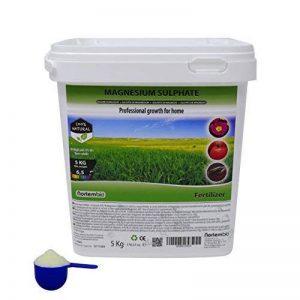 NortemBio Sulfate de Magnésium 5 kg, Engrais Universel, Fertilisant Naturel pour Culture, pour Les Plantes d'intérieur et de Jardin. de la marque NortemBio image 0 produit