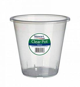 Pot à orchidée Transparent 13cm par Stewart Garden Products, plastique, claire, 13 cm de la marque Stewart image 0 produit