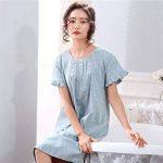 Pyjama ZHAOJING coton été chemise de nuit d'été section mince à manches courtes mère d'âge moyen coton d'été plus engrais XL robe de la marque Pyjama image 4 produit