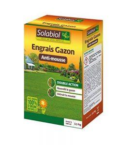 Solabiol SOGAZMOU100 Engrais Gazon Anti-Mousse, Marron, 3,5 kg de la marque Solabiol image 0 produit