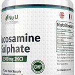 Sulfate de Glucosamine 1,500 mg 2KCl, 365 Comprimés (Approvisionnement pour 1 An)   Haute Puissance   Fabriqué au Royaume-Uni par Nu U Nutrition de la marque Nu U image 2 produit