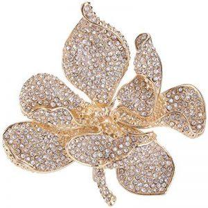 TENYE Femme Cristal Autrichien Marié Orchidée Fleur Pétale Broche de la marque TENYE image 0 produit