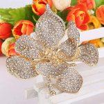TENYE Femme Cristal Autrichien Marié Orchidée Fleur Pétale Broche de la marque TENYE image 2 produit