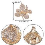 TENYE Femme Cristal Autrichien Marié Orchidée Fleur Pétale Broche de la marque TENYE image 3 produit