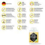 Vitamine C fortement dosée 1000 mg + bioflavonoïdes + zinc, 180 comprimés végétaliens, quantité pour 6 mois, produit de qualité allemande sans stéarate de magnésium, GARANTIE DE REMBOURSEMENT À 100 % de la marque Vitamaze - amazing life image 4 produit
